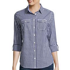 St. John's Bay® Long-Sleeve Camp Shirt