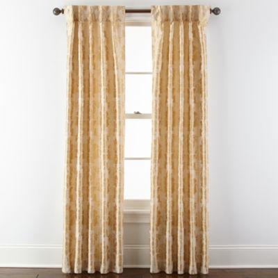 Royal Velvet® Supreme Damask Pinch Pleat/Back Tab Curtain Panel
