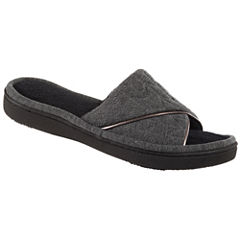Isotoner Quilted Jersey Slide Slippers