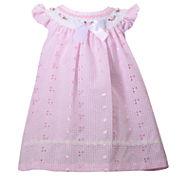 Bonnie Jean short sleeve flutter sleeve eyelet dress  - Baby Girls