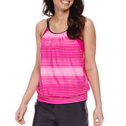 Free Country Solid Blouson Swimsuit Top