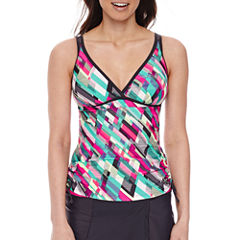 Free Country Geo Linear Tankini Swimsuit Top