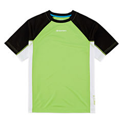 Zeroxposur Boys Solid Rash Guard-Big Kid