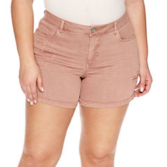 Vanilla Star Midi Shorts-Juniors Plus