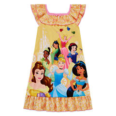 Disney Short Sleeve Disney Princess Nightshirt-Big Kid Girls