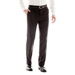 JF J. Ferrar Black Nailhead Slim-Fit Flat-Front Suit Pants