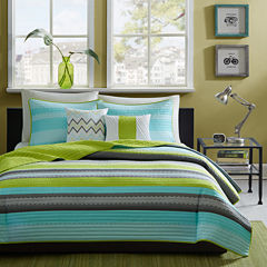 Intelligent Design Jesse Striped Quilt Set
