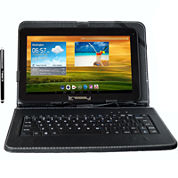 Linsay® 10.1'' Quadcore 1024X600Hd 8Gb Tablet with Leather Keyboard