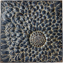 Distressed Flower Metal Wall Art