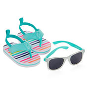 Carter's® Striped Sunglasses and Sandals Set - Baby Girls 3m-12m