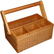 Totally Bamboo® Lattice Flatware Caddy