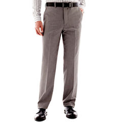 JF J. Ferrar® End on End Flat Front Suit Pants - Slim Fit