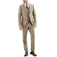 JF J. Ferrar® Slim-Fit Luster Herringbone Suit Separates