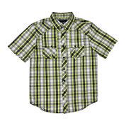 Chalc® Short-Sleeve Button-Front Plaid Poplin Shirt - Boys