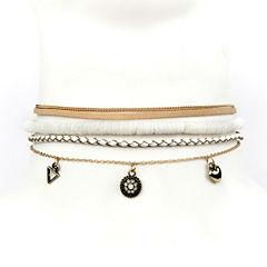 Arizona Womens White Choker Necklace
