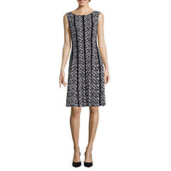 Connected Apparel Sleeveless Fit & Flare Dress
