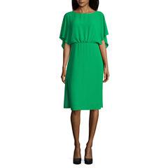 Melrose Flutter Sleeve Blouson Dress
