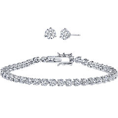 DiamonArt® Cubic Zirconia Earring and Bracelet Set