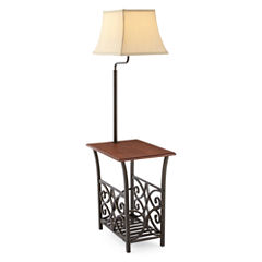 JCPenney Home™ Magazine Rack Side Table with Lamp