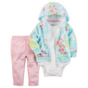 Carter's 3-Piece Hoodie Set - Baby Girls