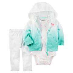 Carter's 3-Piece Hoodie Set - Baby Girls