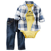 Carter's Boys 3-pc. Short Sleeve Pant Set-Baby