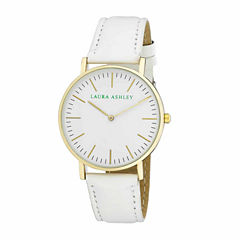 Laura Ashley Na Womens White Strap Watch-La31020wt