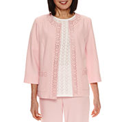 Alfred Dunner Rose Hill Suit Laser-Cut Jacket