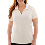 St. John's Bay® Short-Sleeve Polo Shirt - Plus