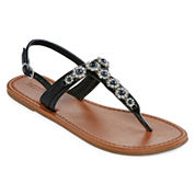 Mixit® Pearl T-Strap Sandals