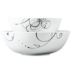 Tabletops Gallery® Pescara 2-pc. Porcelain Serving Bowl Set