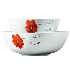 Tabletops Gallery® Poppy 2-pc. Serving Bowl Set