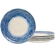 Tabletops Gallery® Set of 6 Round Dinner Plates