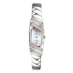 Seiko Freeform Womens Silver Tone Bracelet Watch-Sup332