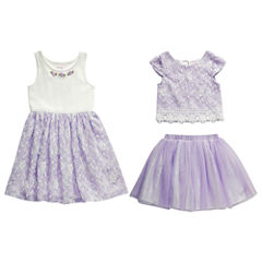 Young Land 3-pc. Skirt Set Preschool Girls