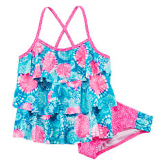 Angel Beach Girls Solid Tankini Set - Big Kid