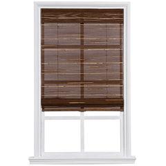 Custom Cordless Textured Bamboo and Reed Roman Shade