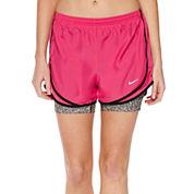 Nike® 2-In-1 Tempo Print Compression Shorts