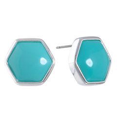 Liz Claiborne Blue Stud Earrings