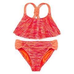Angel Beach Girls Solid Bikini Set - Big Kid