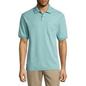 Haggar Short Sleeve Minibox Polo Shirt