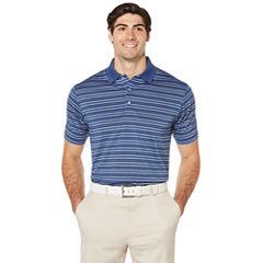 PGA TOUR Short Sleeve Stripe Jersey Polo Shirt