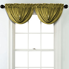 JCPenney Home Velvet Rod Pocket Blackout Lined Waterfall Valance