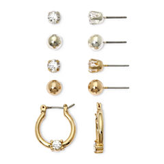 Mixit Silver- & Gold-Tone 5-pr. Earring Set