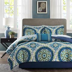 Madison Park Essentials Odisha Medallion Complete Bedding Set with Sheets