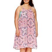 Decree® Swing Halter Dress - Juniors Plus