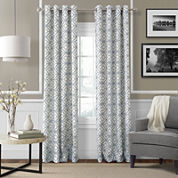 Crackle Grommet-Top Curtain Panel