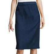 Liz Claiborne® Linen-Blend Midi Skirt