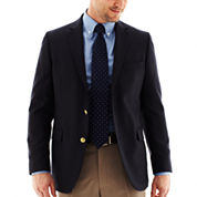 Stafford® Executive Navy Hopsack Blazer - Classic