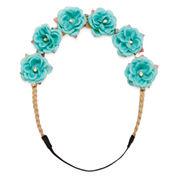 Carole Suede and Flowers Headband Set